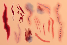 Realistic Vector Various Blood...