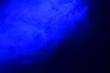 Leinwandbild Motiv Abstract Form Blue Smoke Like Cloud Wave Effect On Black Background, Flowing