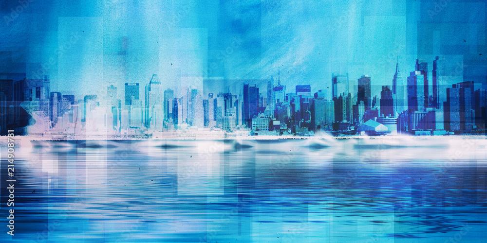 Fototapety, obrazy: NYC skyline