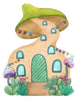 Funny Mushroom House
