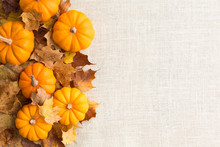 Fall Themed Pumpkin Background Autumn Border Horizontal