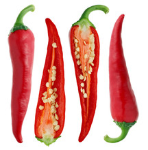 Pods Of Fresh Chili Peppers - ...