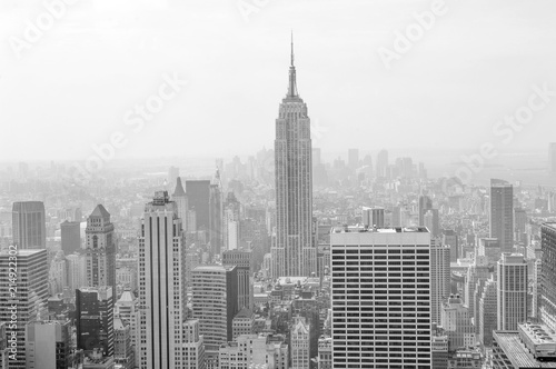 Fotografie, Obraz  Sepia-colored view of midtown and downtown Manhattan from above