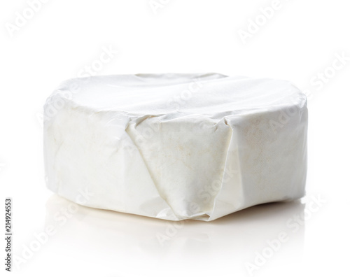 Camembert cheese isolated on white