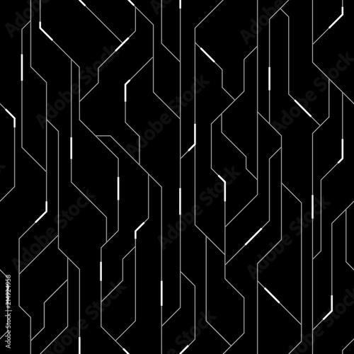 Canvastavla  Vector Seamless Pattern Background. Futuristic Hi-Tech Design
