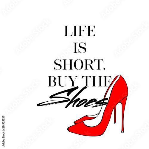 zycie-jest-krotkie-kupic-buty-t-shirt-z-recznie-rysowane-czerwone-buty-obcasy