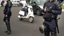 French Policemen Cordon Off St...
