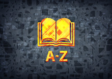 A-Z (book Icon) Black Background