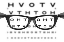 Eye Chart Or Sight Test Seen T...