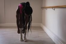 Woman Wearing Socks In Fitness Studio