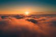 Leinwandbild Motiv Orange clouds in the morning