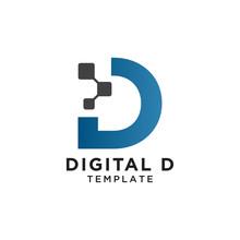 Letter D Pixels Logo Initial D...