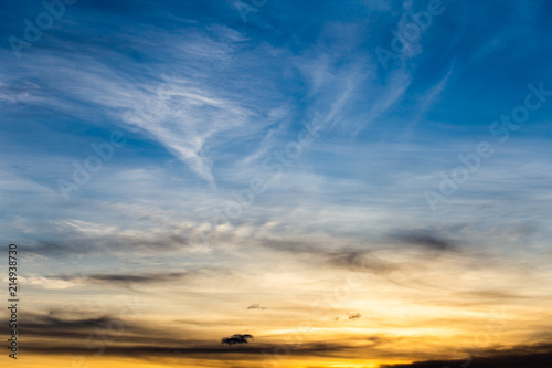 Fotografie, Obraz  colorful dramatic sky with cloud at sunset.
