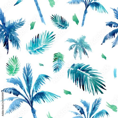 niebieskie-jasne-liscie-palm