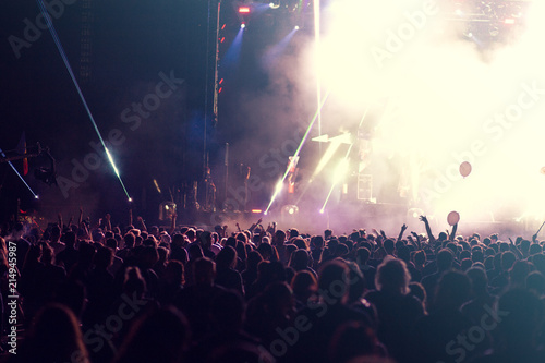 Concert lights and crowd background  - 214945987