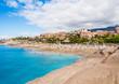 El Duque beach in Costa Adeje. Tenerife. Spain