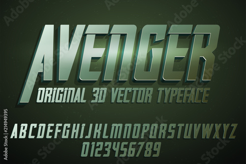 Strong label typeface with vector 3d extrude effect Wallpaper Mural