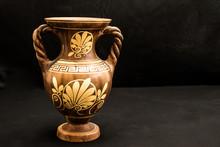 Greek Vase With Flower Design