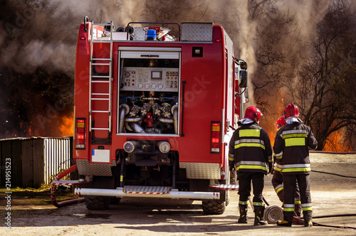 Fire. firefighting action