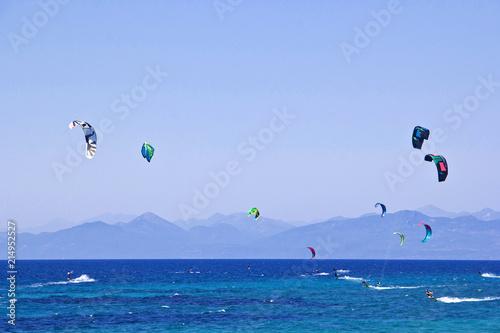 Kitesurfer auf Lefkada