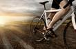 Rennradfahrer auf Landstraße