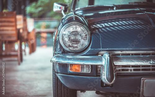 In de dag Vintage cars Front Headlight Car