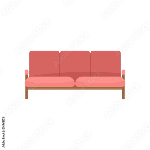 Ledger Sofa Icon Flat Illustration Of Ledger Sofa Vector Icon For