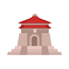 Taiwan Temple Icon. Flat Illustration Of Taiwan Temple Vector Icon For Web Isolated On White