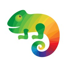 Chameleon Colorful Logo. Icon ...