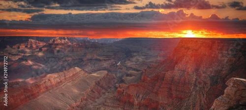 Arizona Amazing Sunrise Image of the Grand Canyon