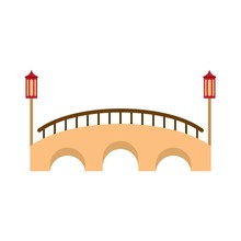 Bridge Icon. Flat Illustration Of Bridge Vector Icon For Web Isolated On White