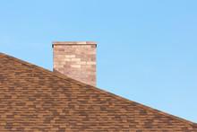 Red Brick Chimney On Shingle R...