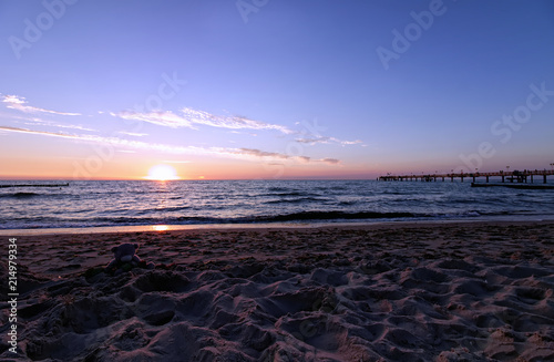 Papiers peints Morning Glory Sommer Sonne Strand Beach Sand Seebrücke Wellen