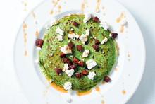 Spinach Crepes With Chorizo And Feta