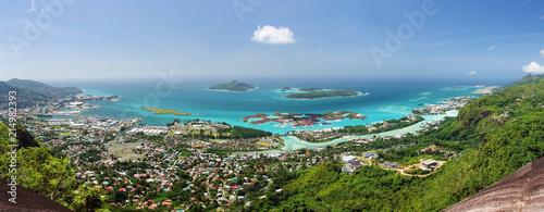 Obraz na plátně Panoramique de Mahé, Seychelles.