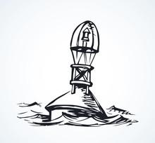 Buoy. Vector Drawing