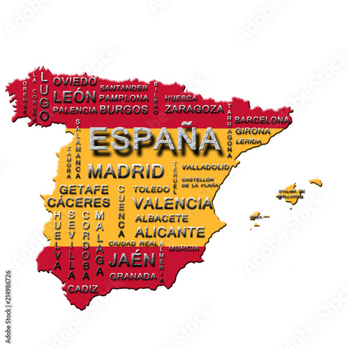 Carte D Espagne Buy This Stock Illustration And Explore Similar