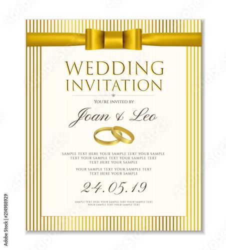 Wedding invitation design template (Save the date card). Classic ...