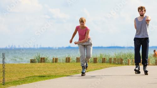 Fototapeta sport lyzwo-rolki-sportowa-rekreacja