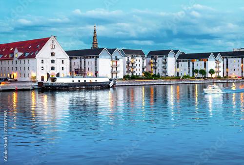 Photo  Christianshavn churh and residential buildings