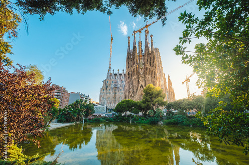 La Sagrada Familia in summer