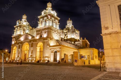 Photo Cordoba Cathedral at night - Cordoba, Argentina