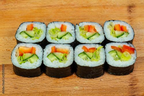 Fototapeta Vegetarian maki roll obraz