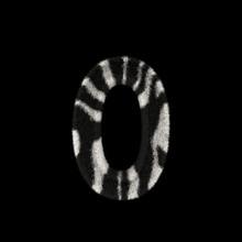 3D Rendering Creative Illustration Zebra Print Furry Number 0