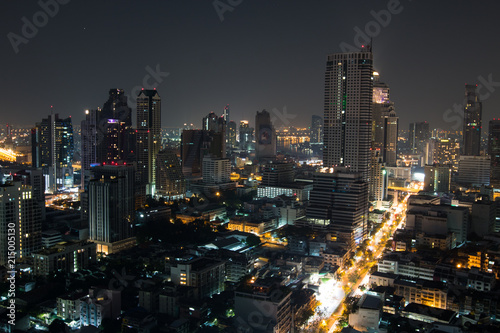 Photo Stands Bangkok panorama de bangkok de nuit
