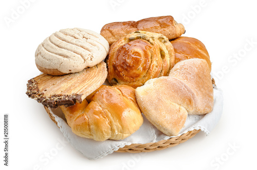 Tuinposter Brood Sweet bread assorted traditional Mexican bakery isolated