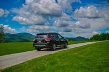 Black Nissan Pathfinder SUV (model   Make Removed)