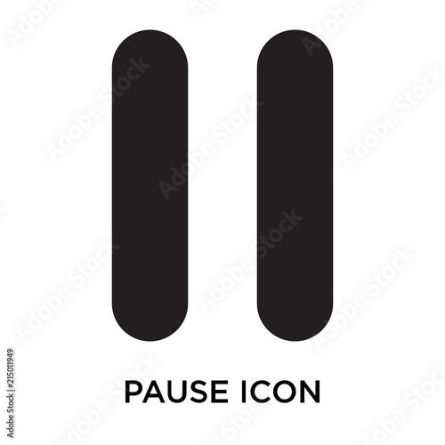Fotografie, Obraz  pause icons isolated on white background