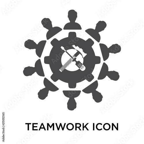 Photo  teamwork icon on white background