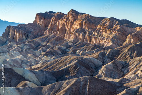 Plagát  Last Light on Red Cathedral Rocks, Viewed from Zabriskie Point, Death Valley
